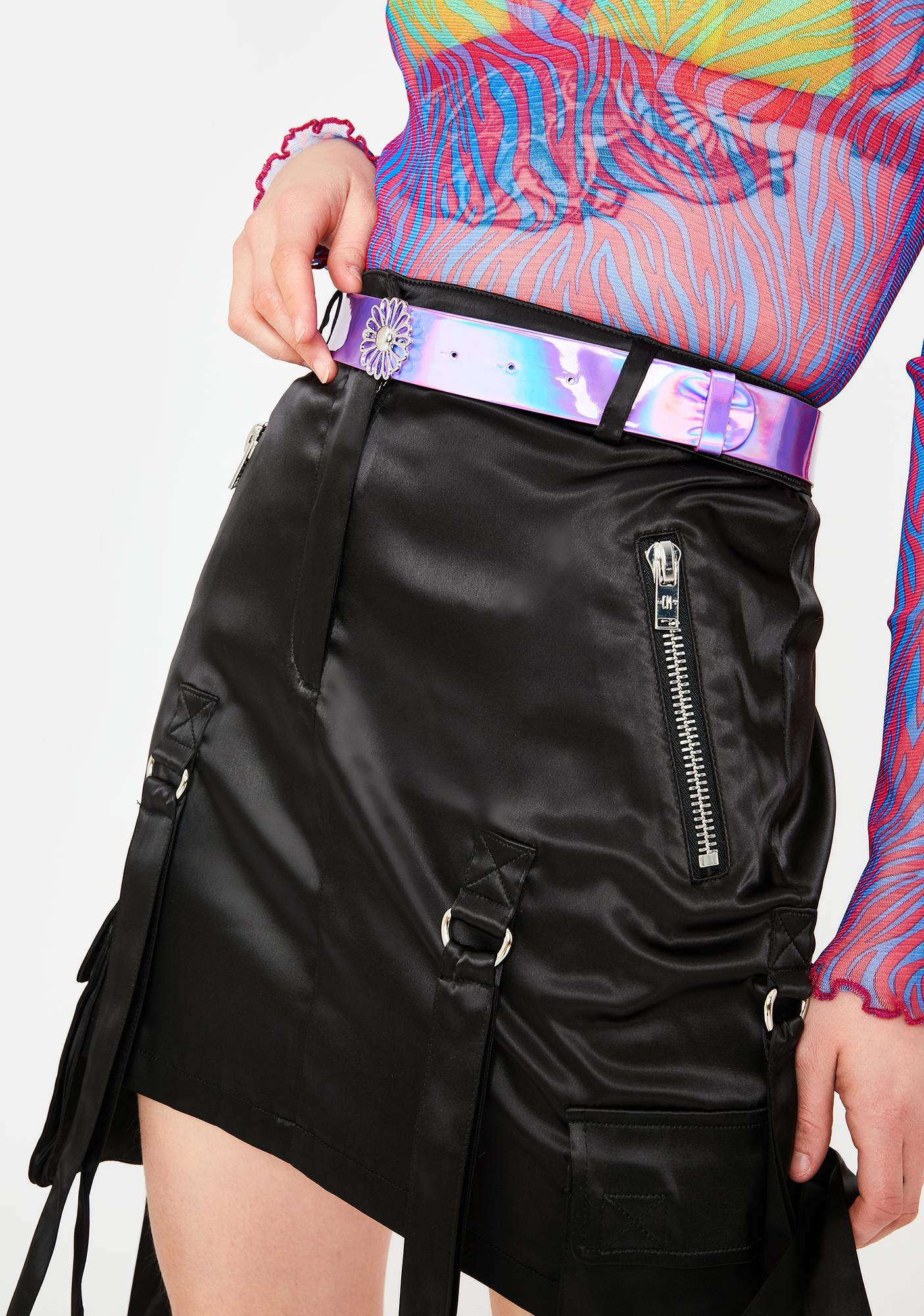 Daisy Dream Holographic Belt