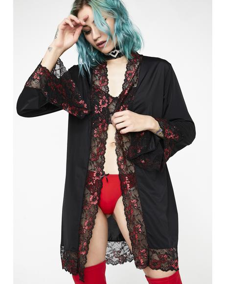 Silky Seductress Robe