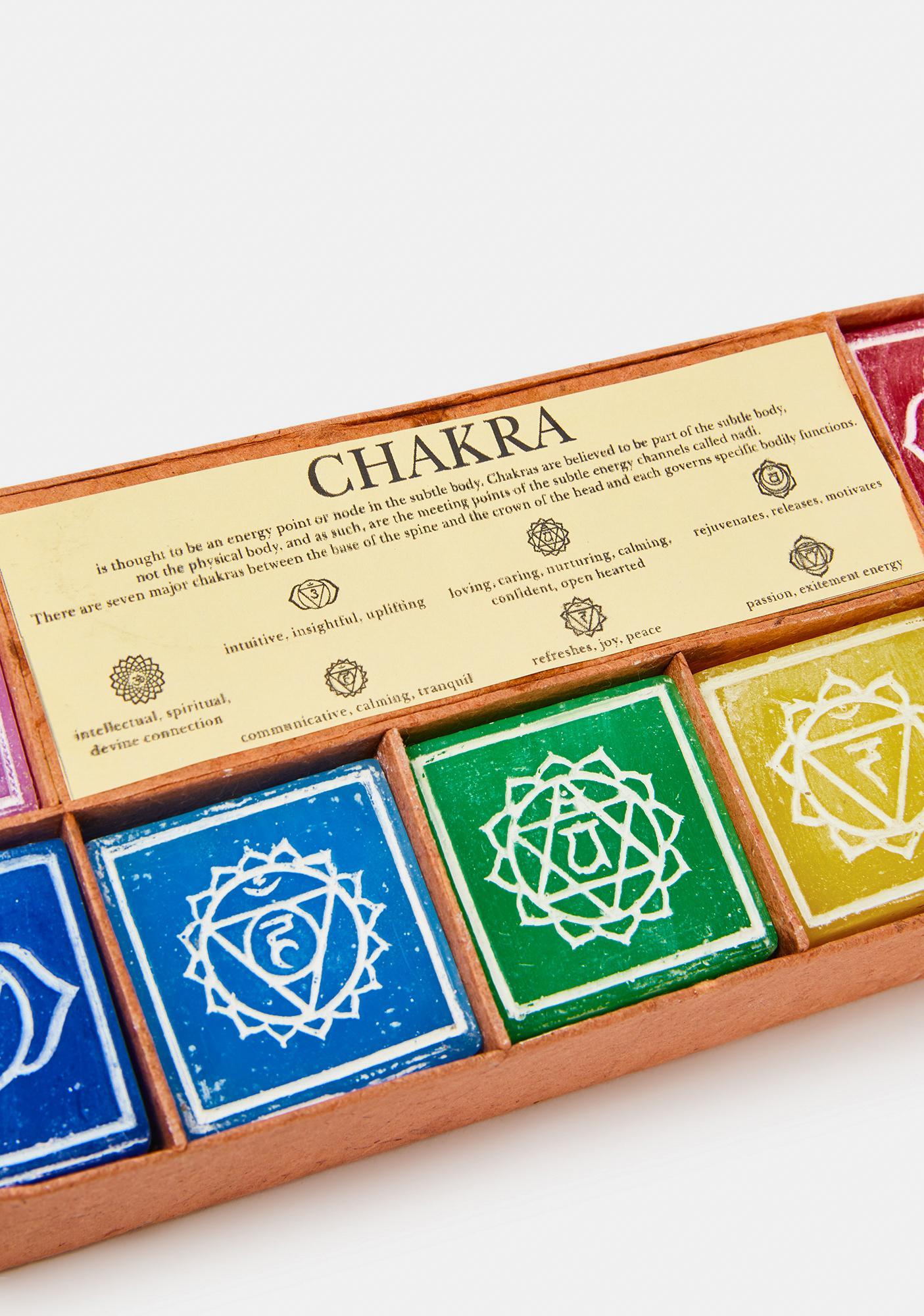 Positive Power Chakra Candle Set