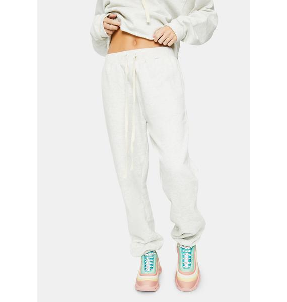 Bailey Rose Heather Grey Couch Club Sweatpants