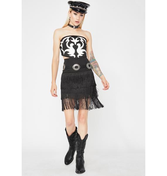 Shake It Up Fringe Skirt