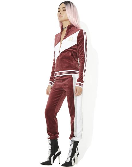 Sporty Heritage Velour Track Pants