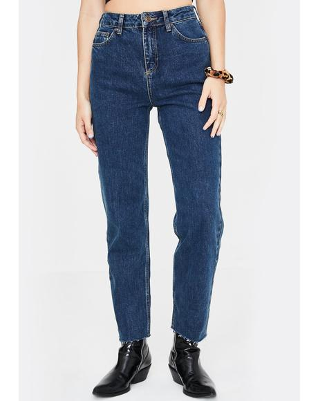 Dark Pax High Rise Vintage Wash Jeans