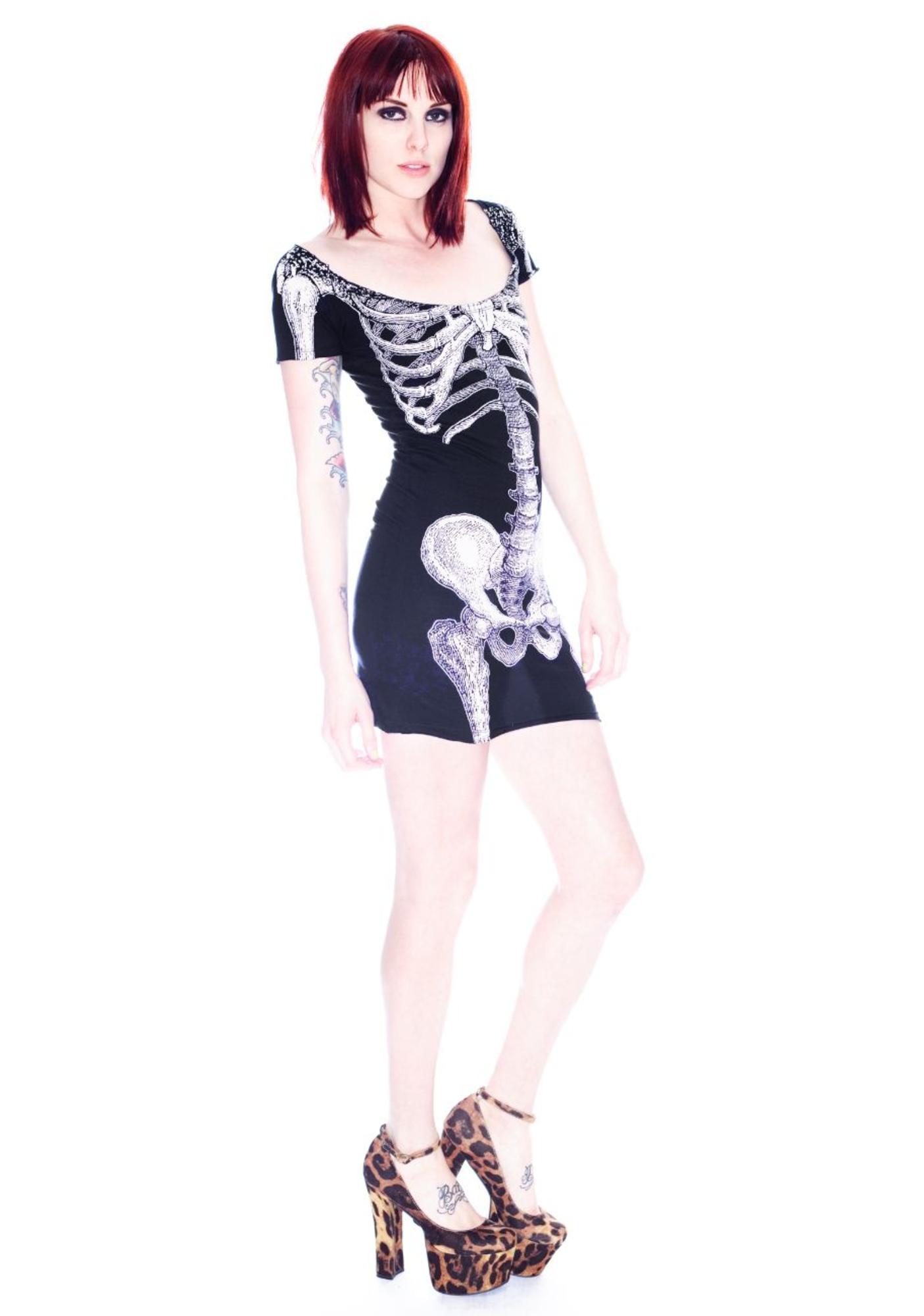 Kreepsville 666 Skeleton Tunic Dress