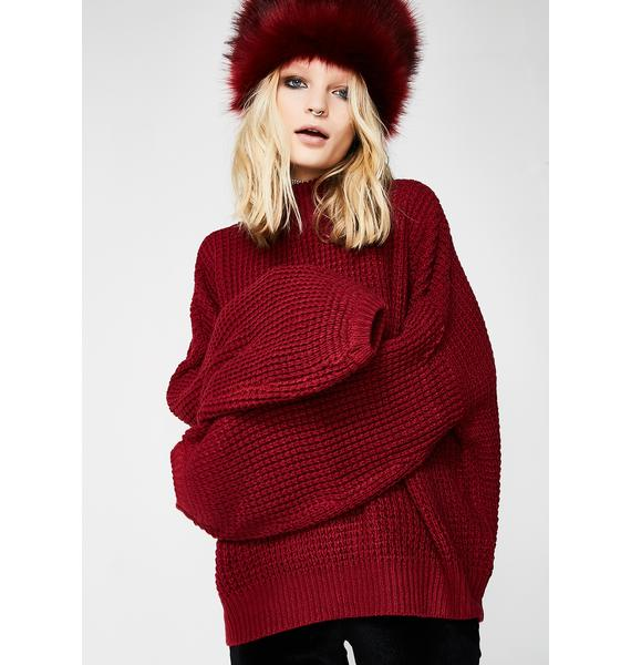 Stop Time Knit Sweater
