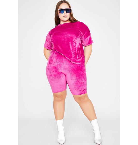 Total Plush Flex Biker Shorts Set