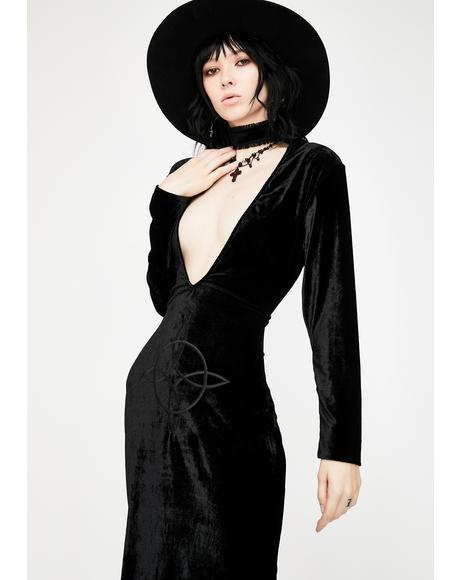 Plunge Velvet Diana Dress