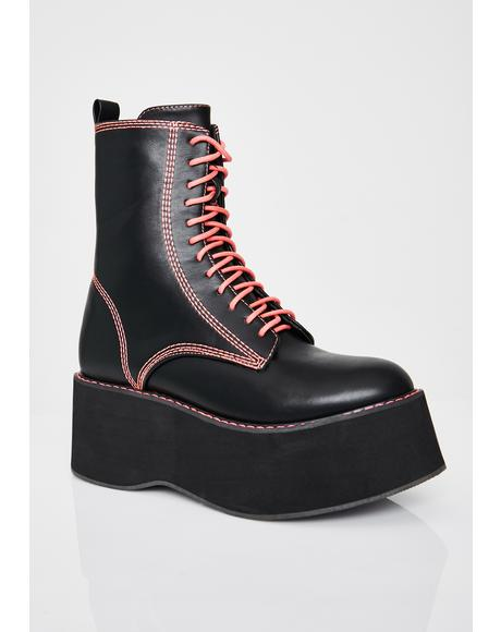 Candy Enigma Platform Boots