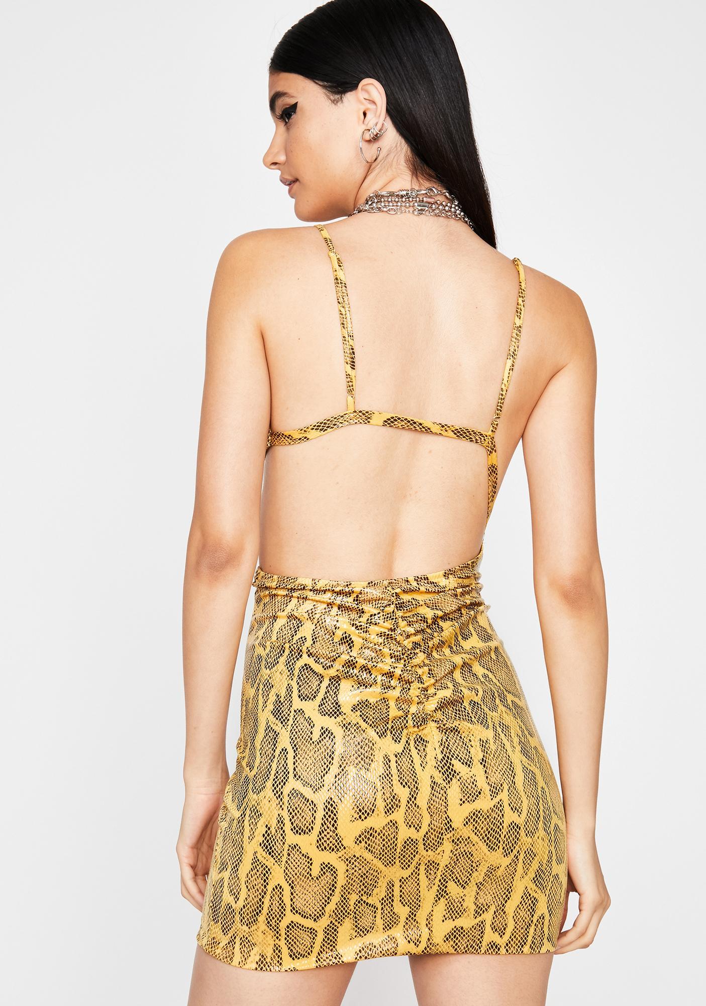 Snake Siren Cut Out Dress