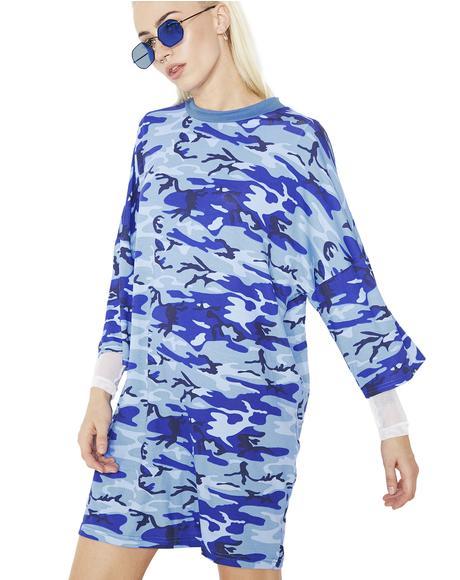 Blue Camo Dress