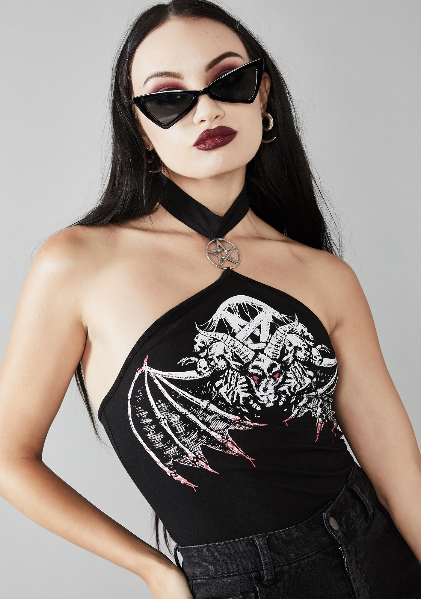 Widow Nightwings Choker Top
