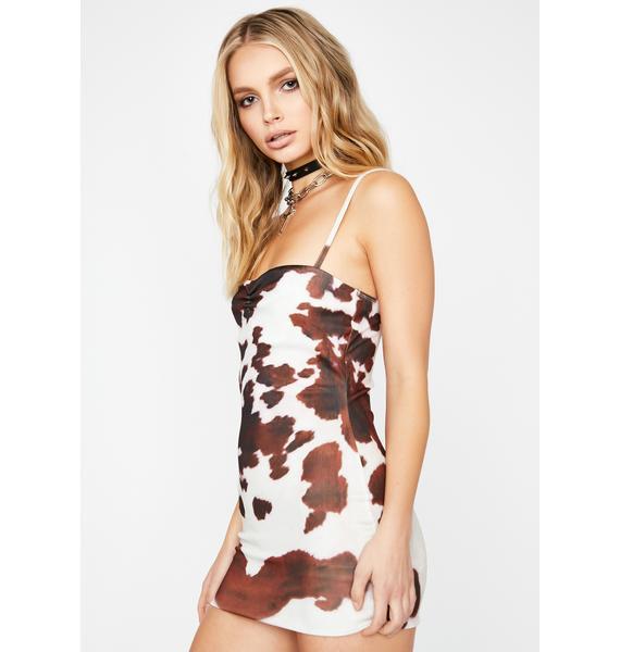 Keep It Moo-vin' Mini Dress