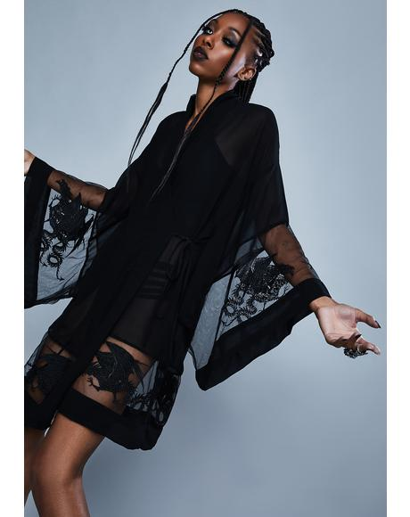 Deadly Desire Chiffon Robe