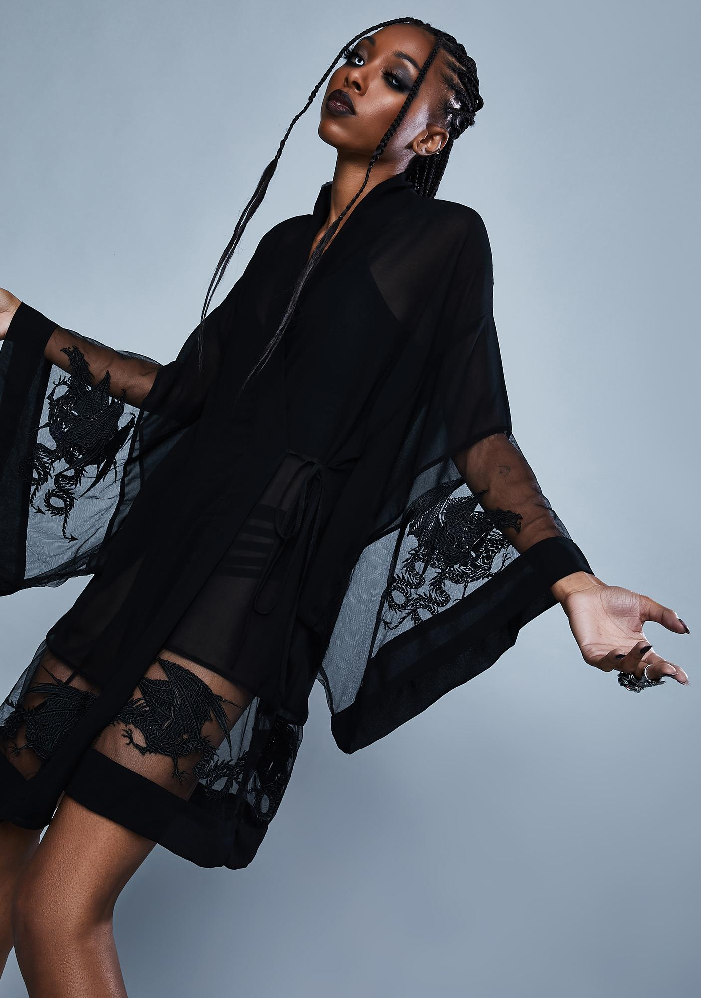 Widow Deadly Desire Chiffon Robe
