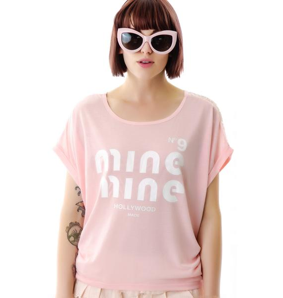 Hollywood Made Miss Mine Lacey Back High Low Tee