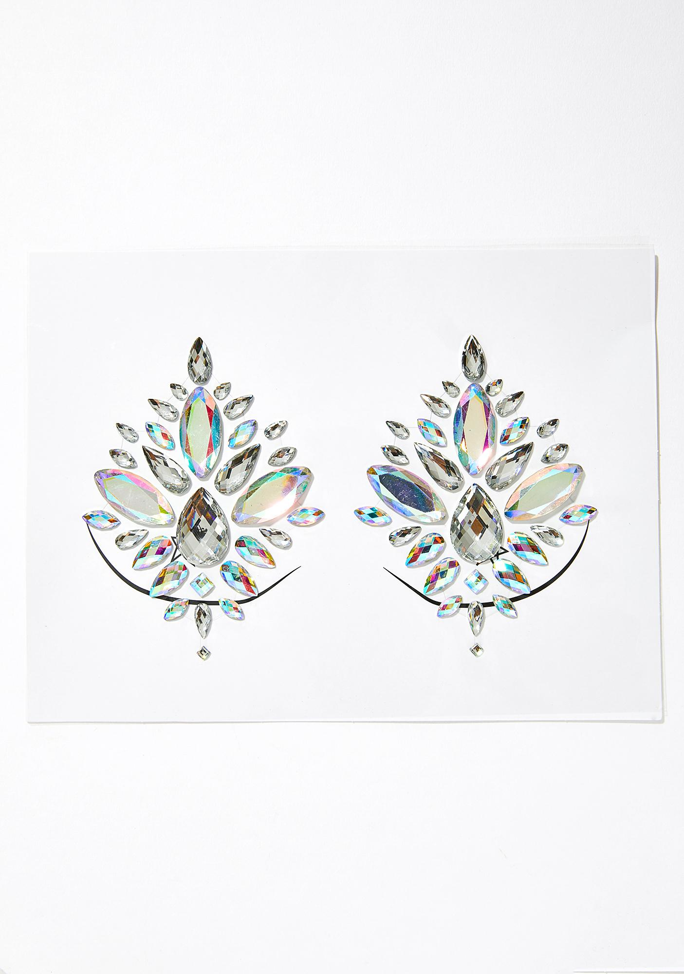 The Gypsy Shrine Silver Diamond Jewel Pasties