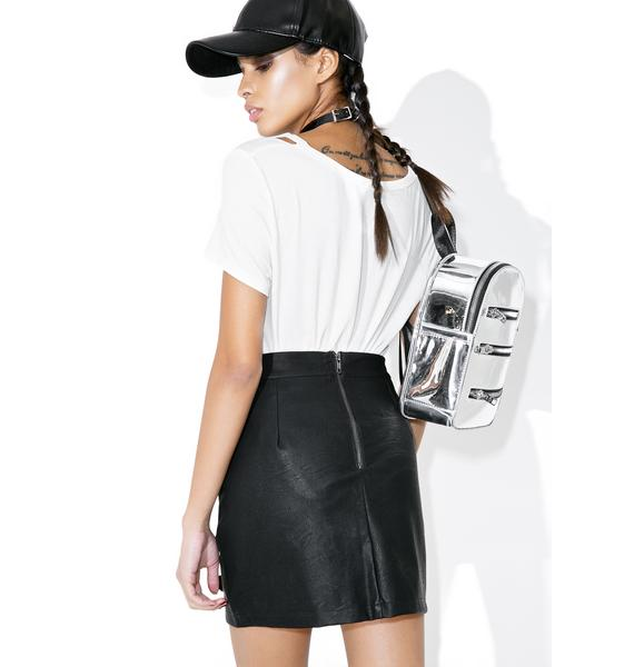 Midnight Rider Lace Up Skirt