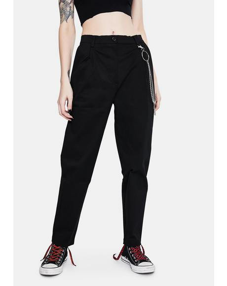 Classic Peg Trousers With Chain