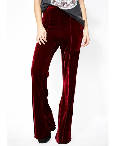 Bloody Divine Woman Velvet Pants