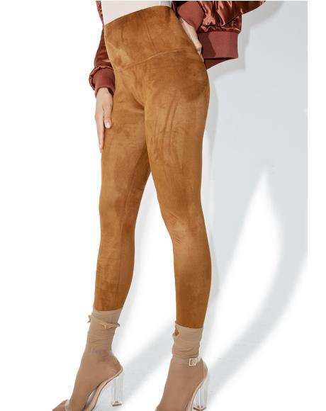 Overrun Suede Pants