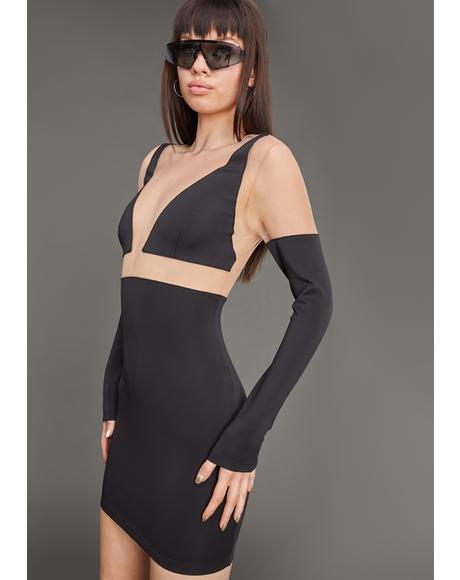 Sneak Peek Mesh Bodycon Dress