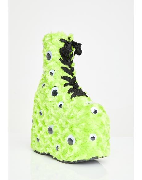 I C U UV Reactive Platform Boots