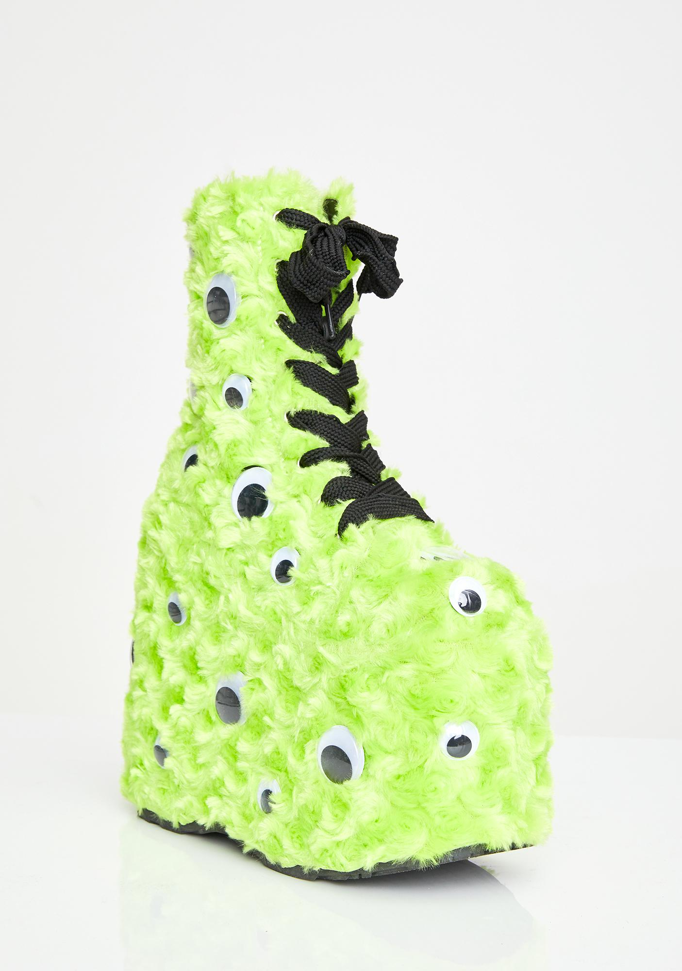 Demonia I C U UV Reactive Platform Boots