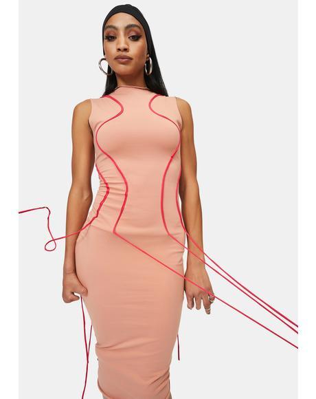 Between The Lines Bodycon Midi Dress