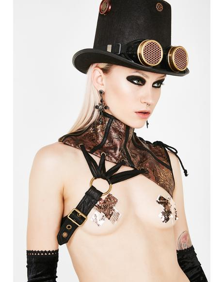 Steampunk Collar Harness