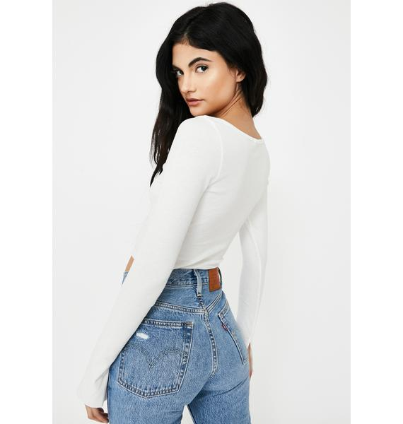 THE KRIPT White Dylan Crop Top