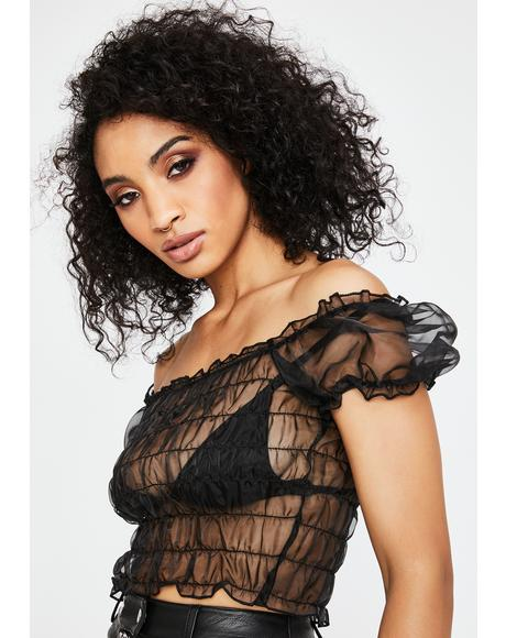 Marila Sheer Crop Top