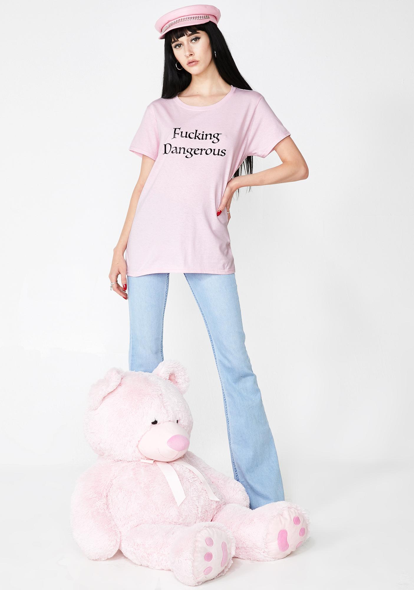 Daisy Street Fucking Dangerous Graphic T-shirt