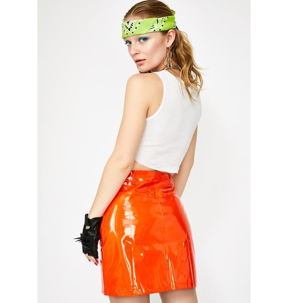 Vibrant Slime Crimez Moto Skirt