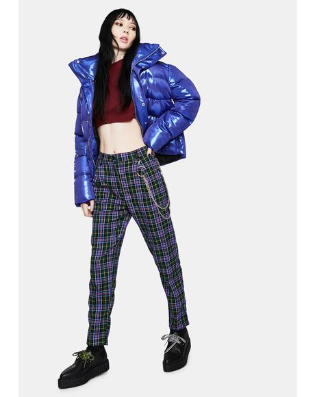 Too Cool For School Chain Plaid Trousers