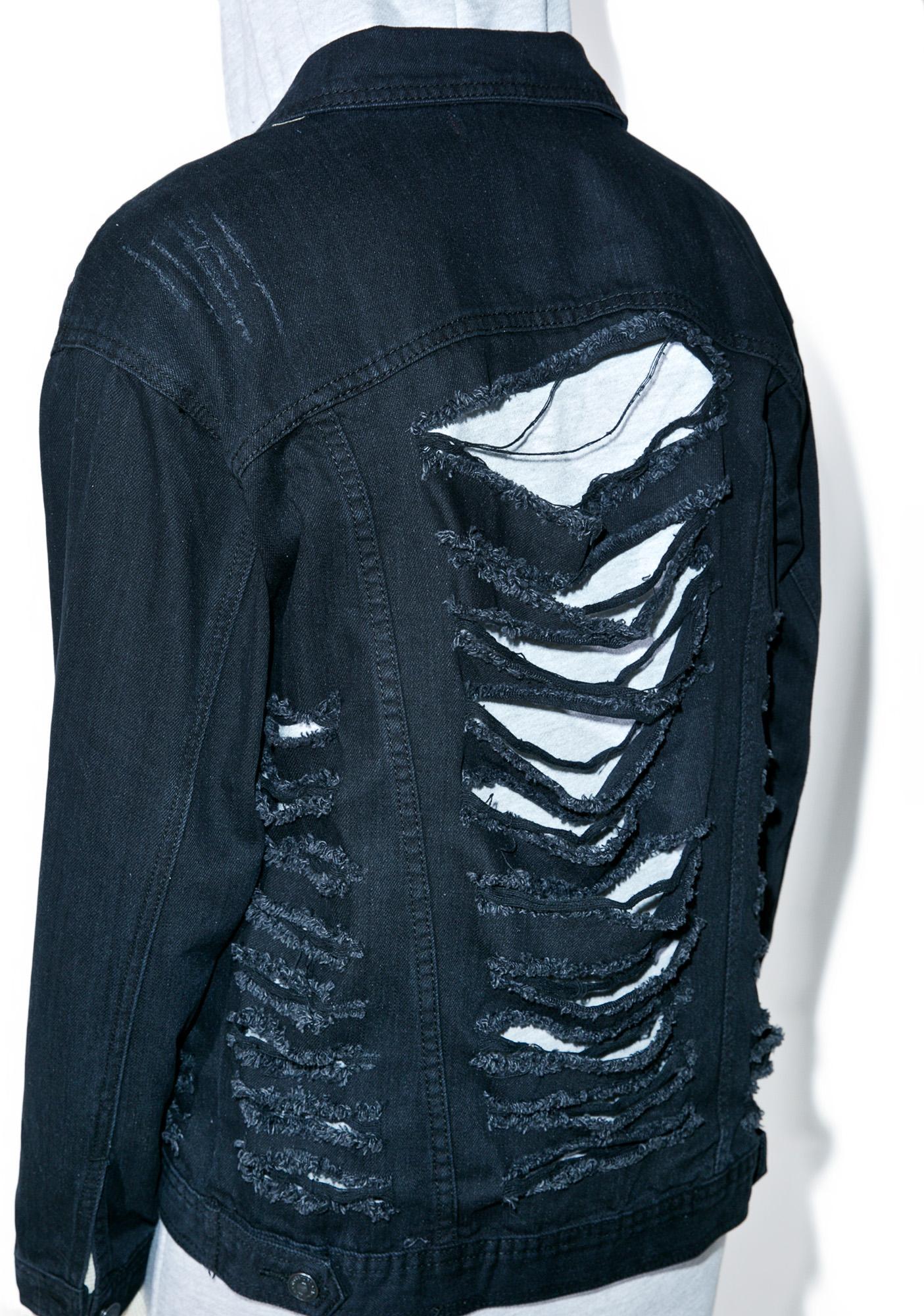 Broken Inside Denim Jacket
