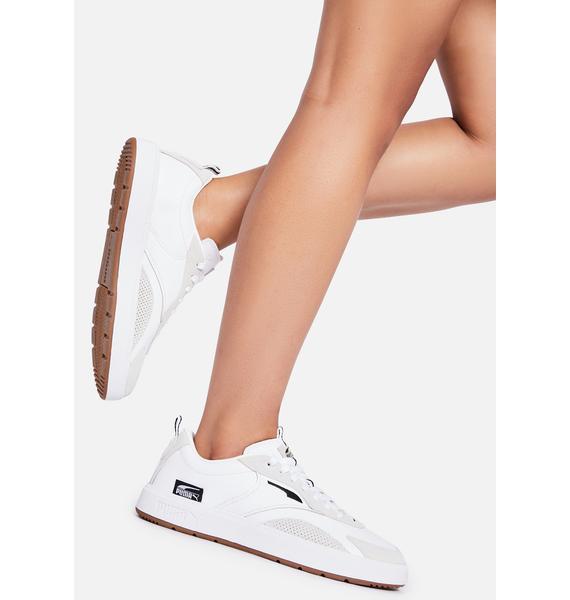 PUMA White Oslo City OG Sneakers