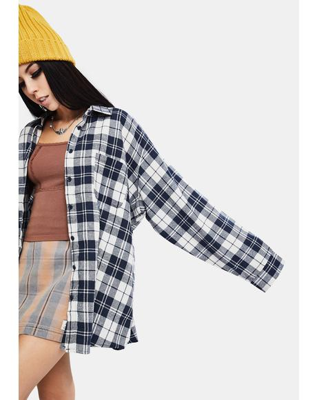 Fallen Nights Oversized Plaid Shirt