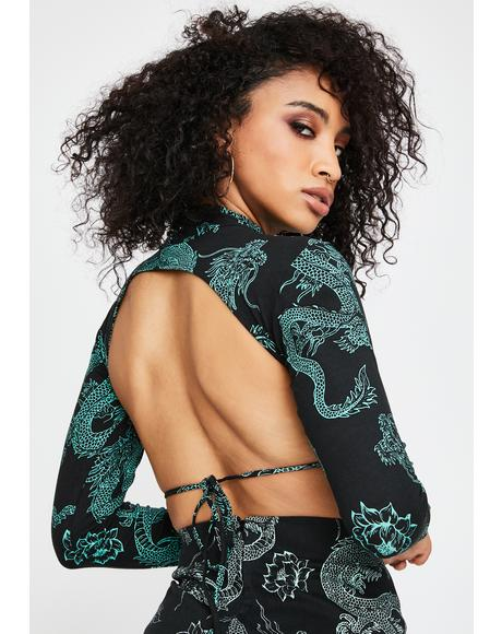 Dragon Flower Quelia Crop Top