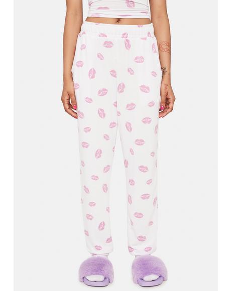 Lip Smack Printed Sweatpants