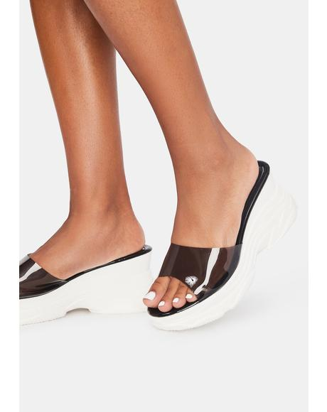 Lunar Catch A Wave Wedge Sandals
