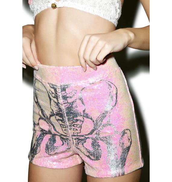 Iron Fist Them Bones Sequin Shorts