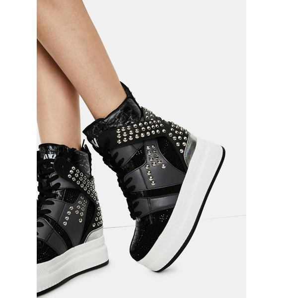 Anthony Wang Quince Studded Wedge Sneakers