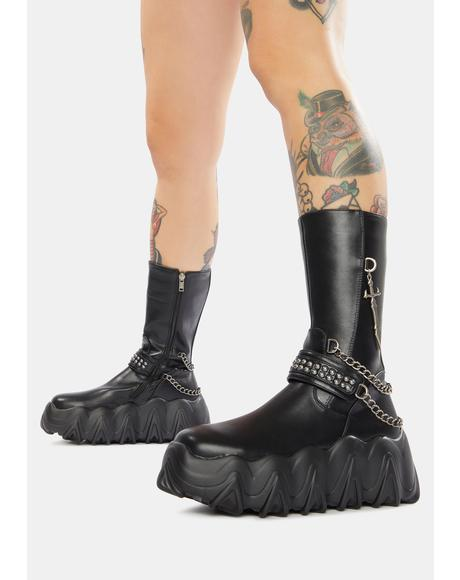 What U Want Chain Platform Boots