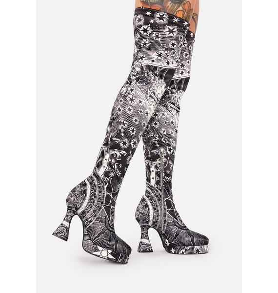 HOROSCOPEZ On The Rise Thigh High Boots