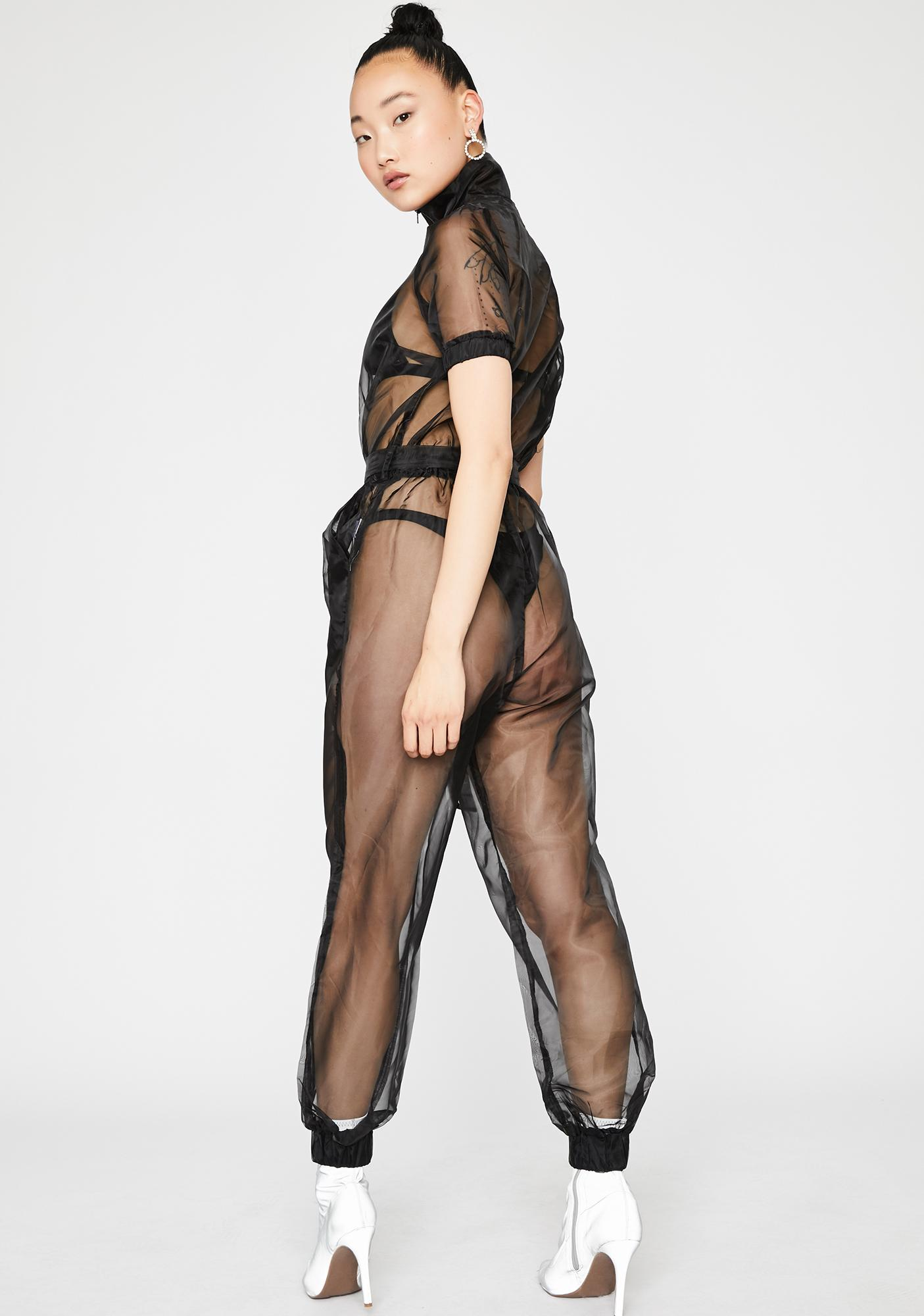 Midnight Bare With Me Sheer Jumpsuit