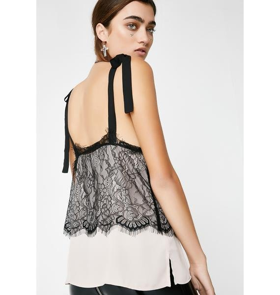 Pour The Tea Lace Tank