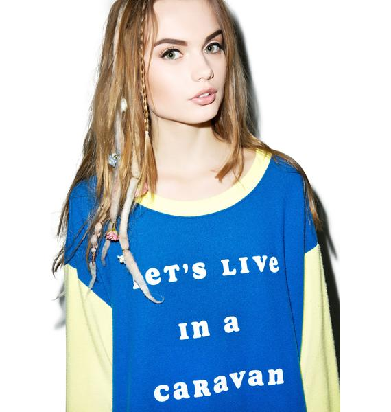 Wildfox Couture Let's Live In A Caravan Roadtrip Sweater Dress