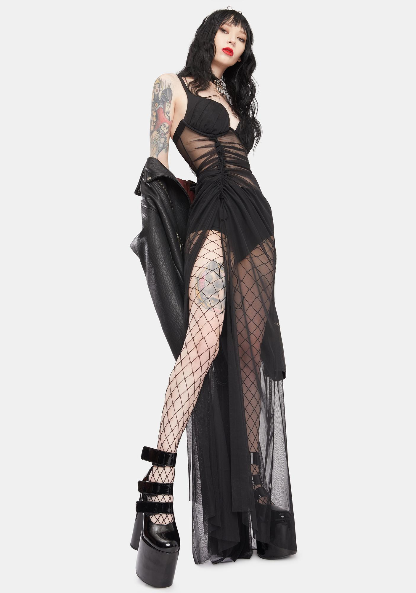 Kiki Riki Steal The Party Mesh Maxi Dress