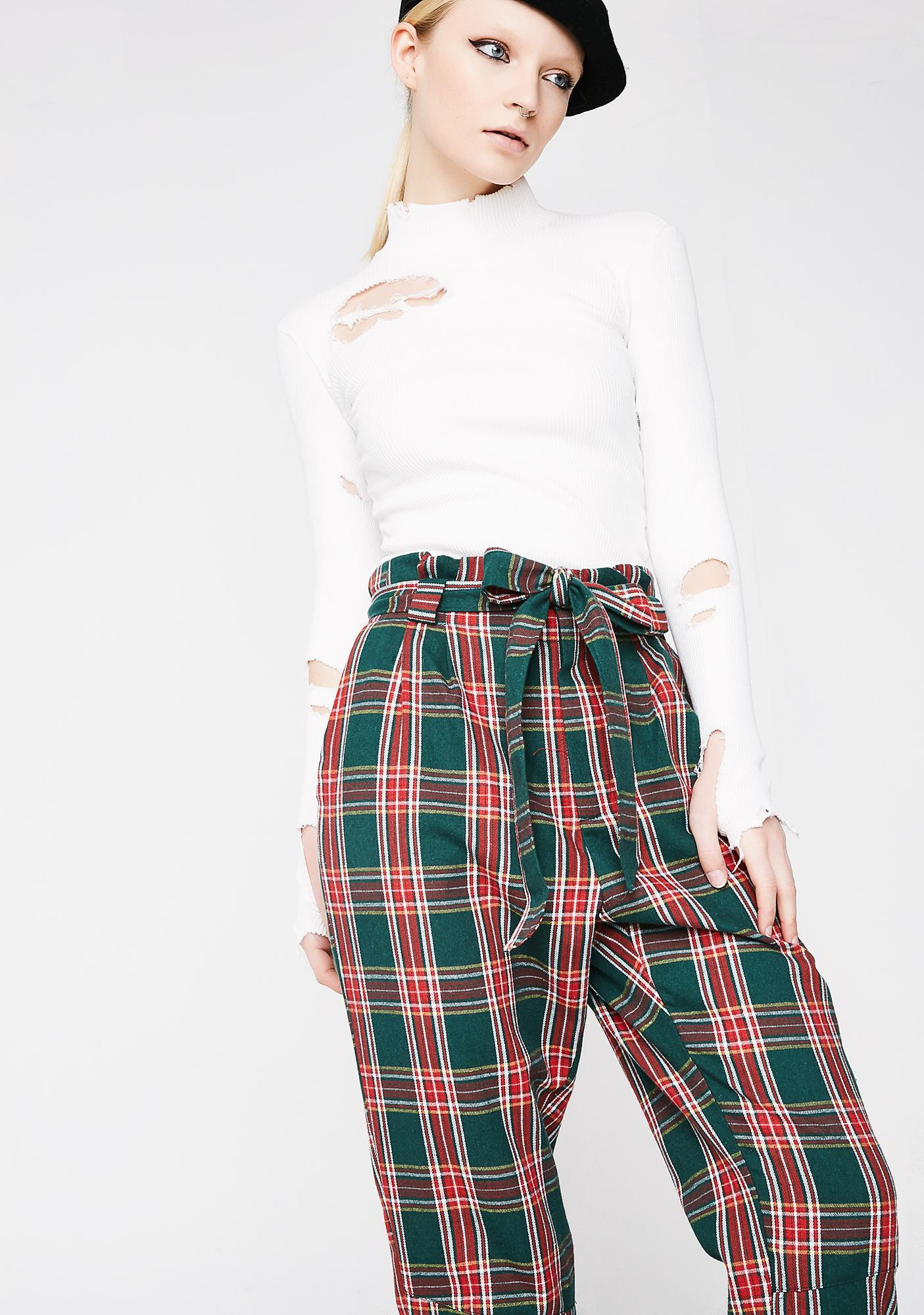 Checked In Plaid Pants