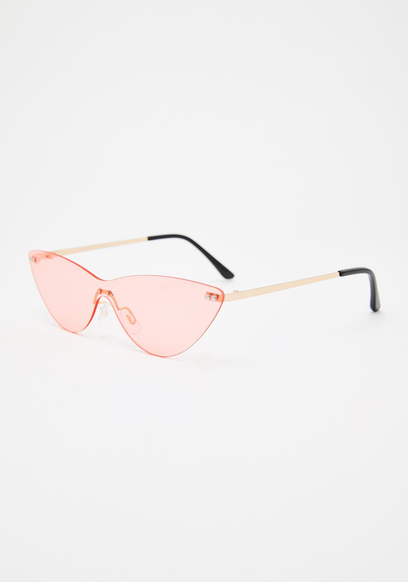 Fire Shooting Daggers Cat Eye Sunglasses
